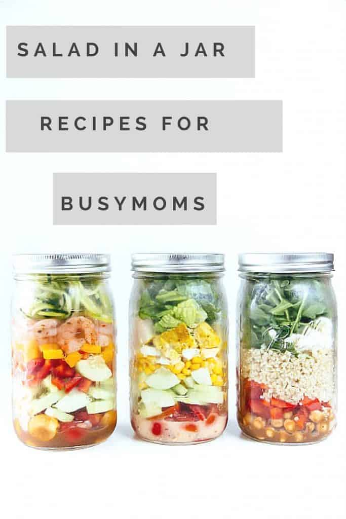 Busy moms need easy solutions. Have you tried these Salad in jar recipes? check out these easy delicious solutions for busy moms.
