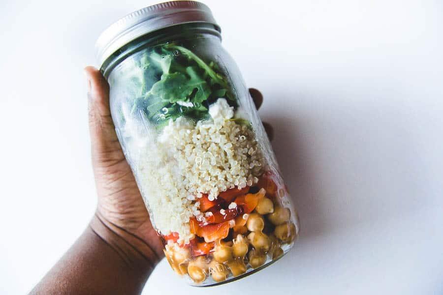 couscous salad in a jar