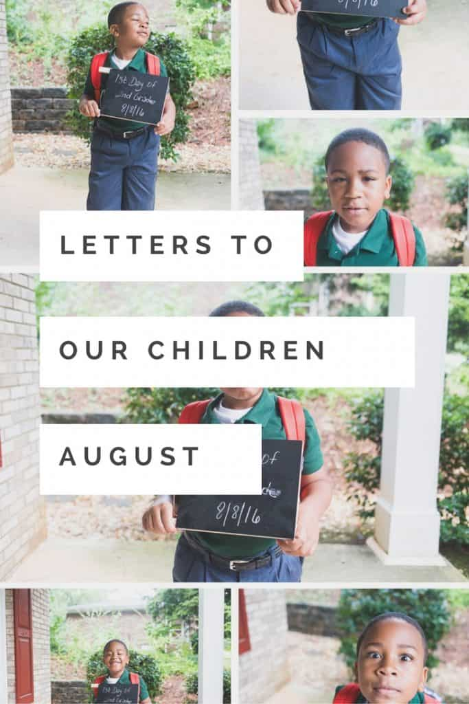 Each month, I write a letter to my son. Link up!
