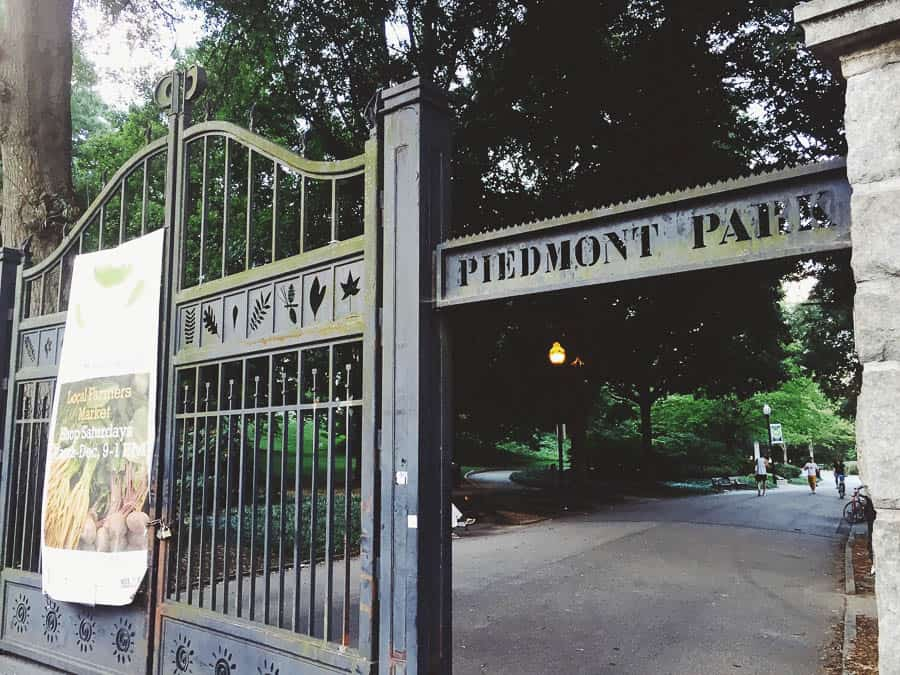 welcome to piedmont park