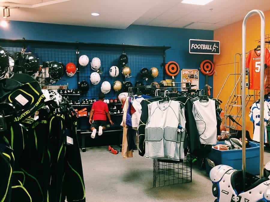 shopping for football gear in atlanta