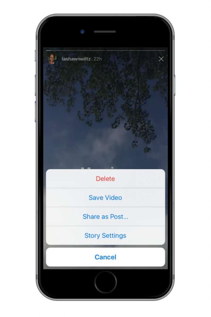 upload photos to your feed from instagram stories