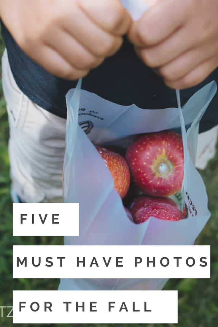 Fall is a beautiful time of year and perfect to take photos. Here are 5 must have photos for you to take this fall. Great photo ideas for moms and a fall photo bucket list!