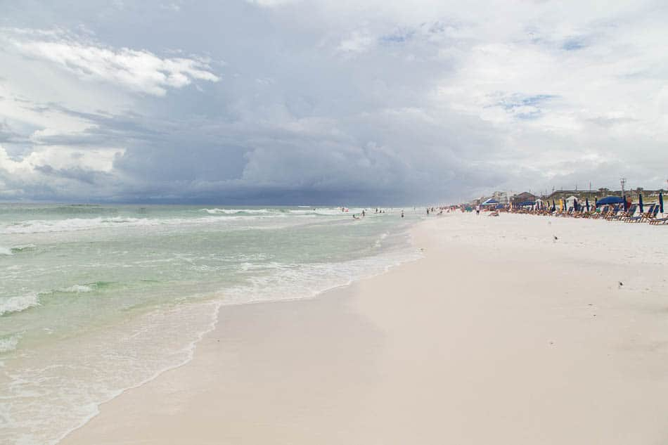 the beach at Destin