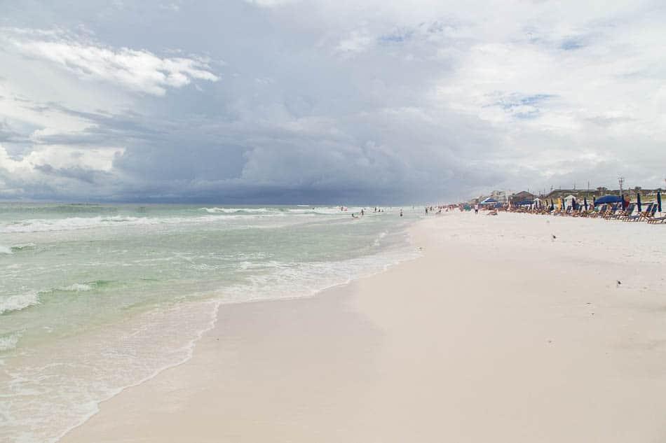 the beach at Destin