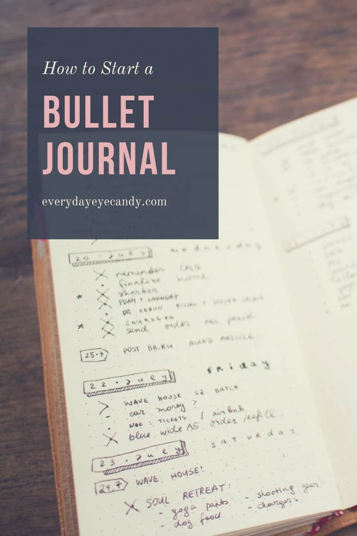 Bullet journals are growing in popularity, have you ever wanted to know how to start a bullet journal? It's an easy way to get organized.