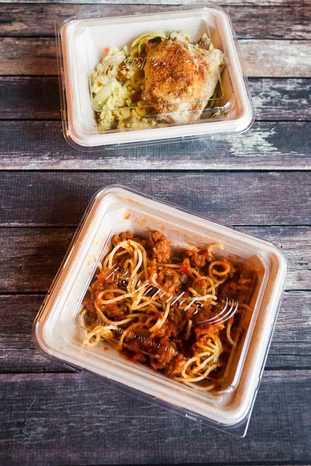 Lunch prep with reynolds heat and eat containers