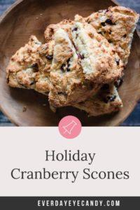 holiday cranberry scones