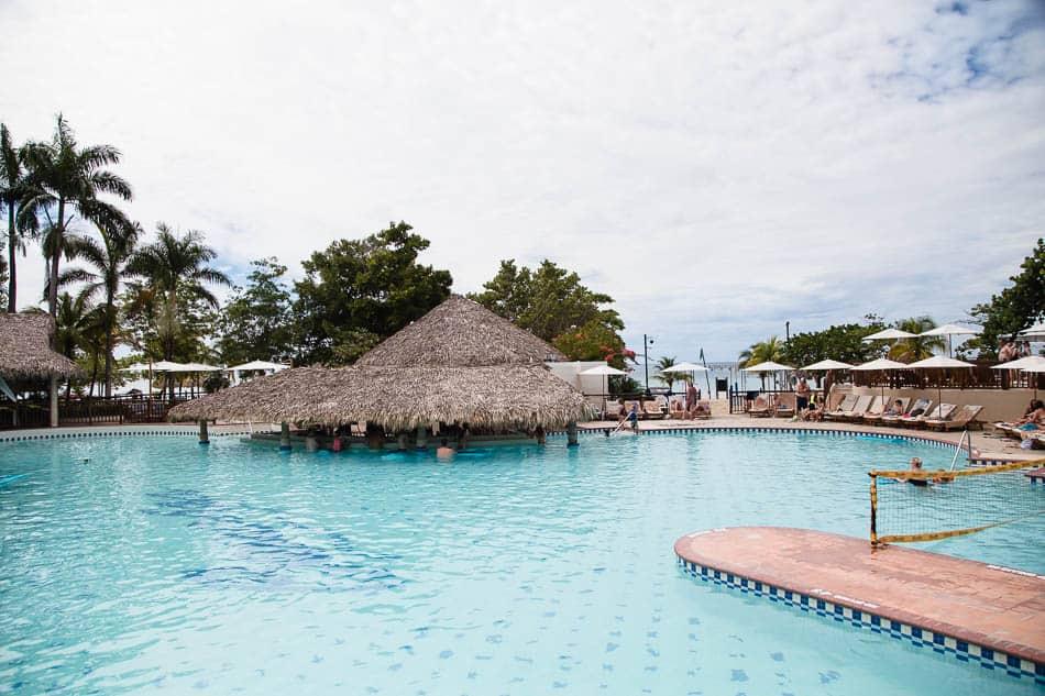 Swim up bar at beaches Negril in Negril Jamaica.
