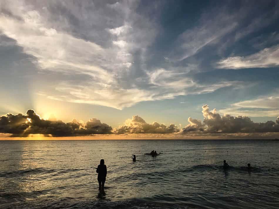 sunset on beaches Negril