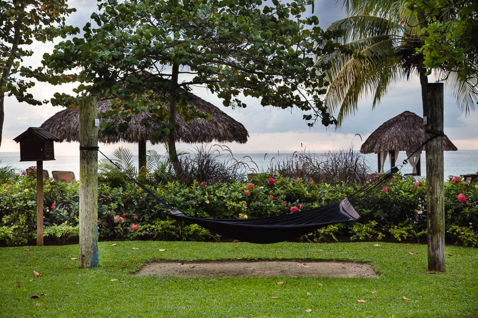 hammock on the beach at Beaches Negril Resort