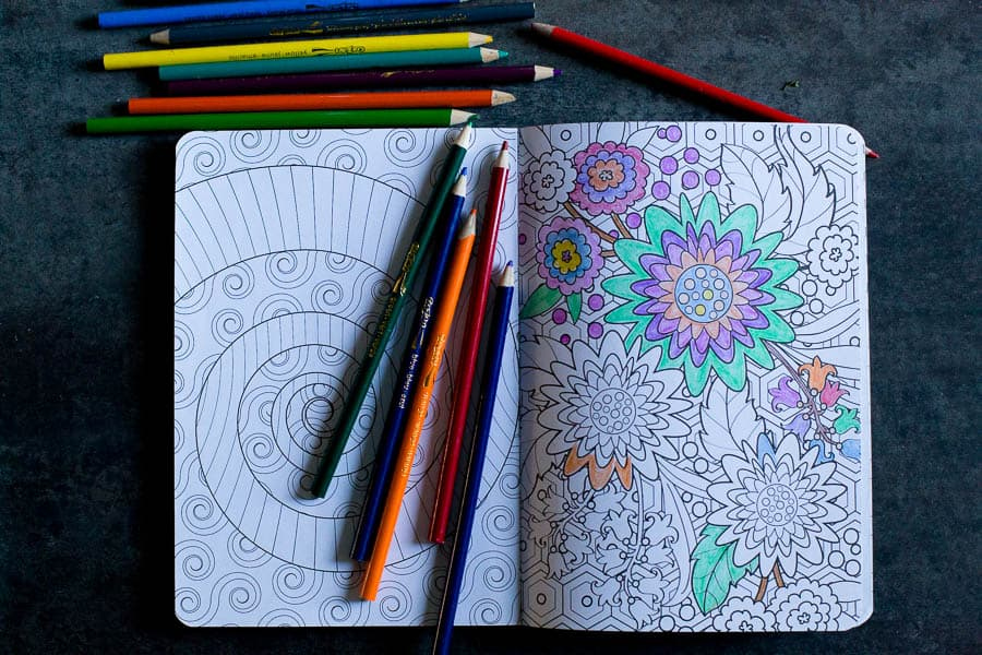 coloring is a fun way to practice self care