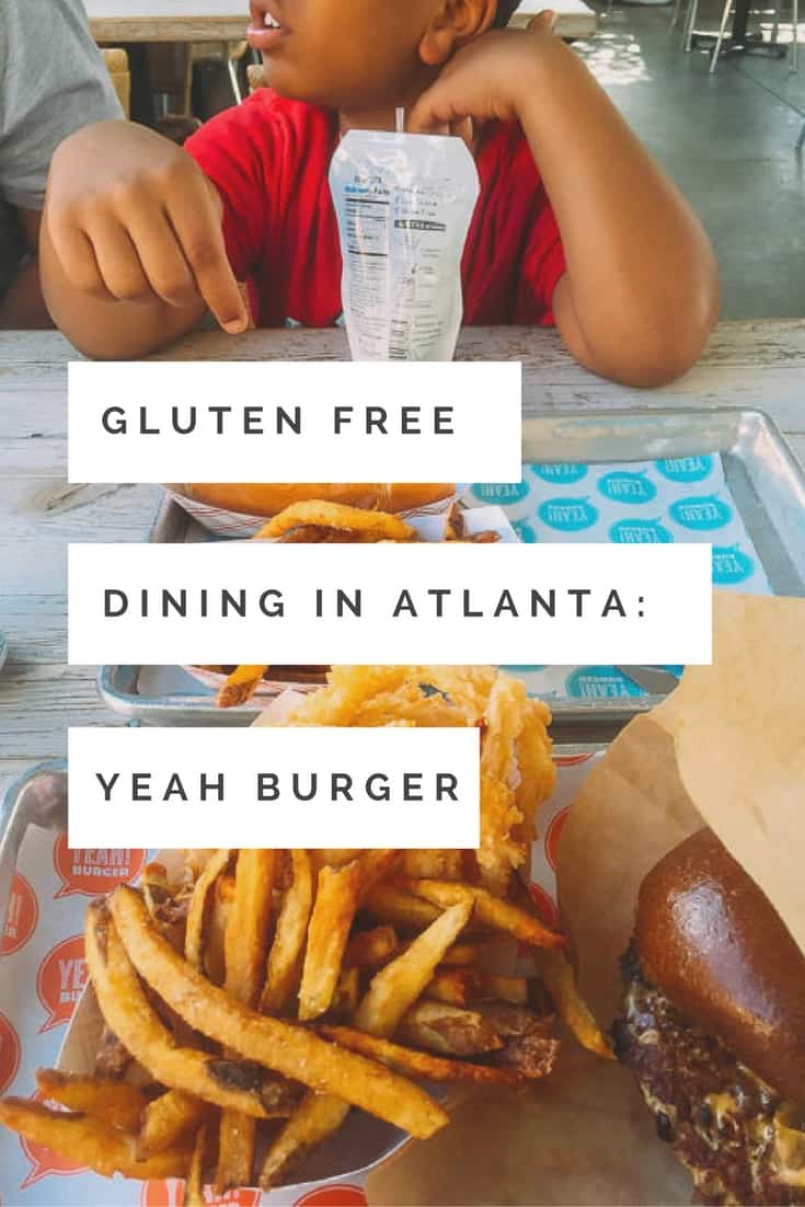 Gluten Free Review:Looking for Gluten Free options in the Atlanta Area? Check out these gluten free options at Yeah Burger