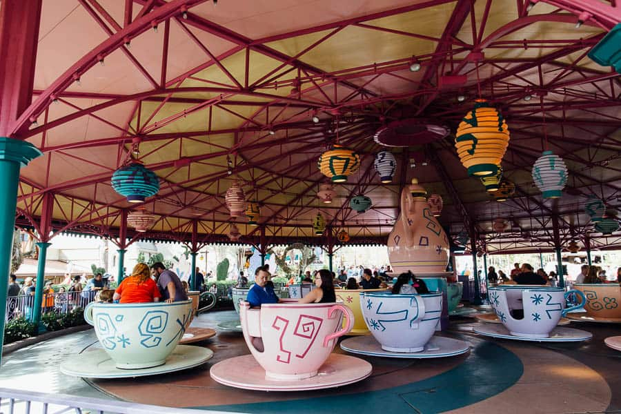 Disney teacups in magic kingdom