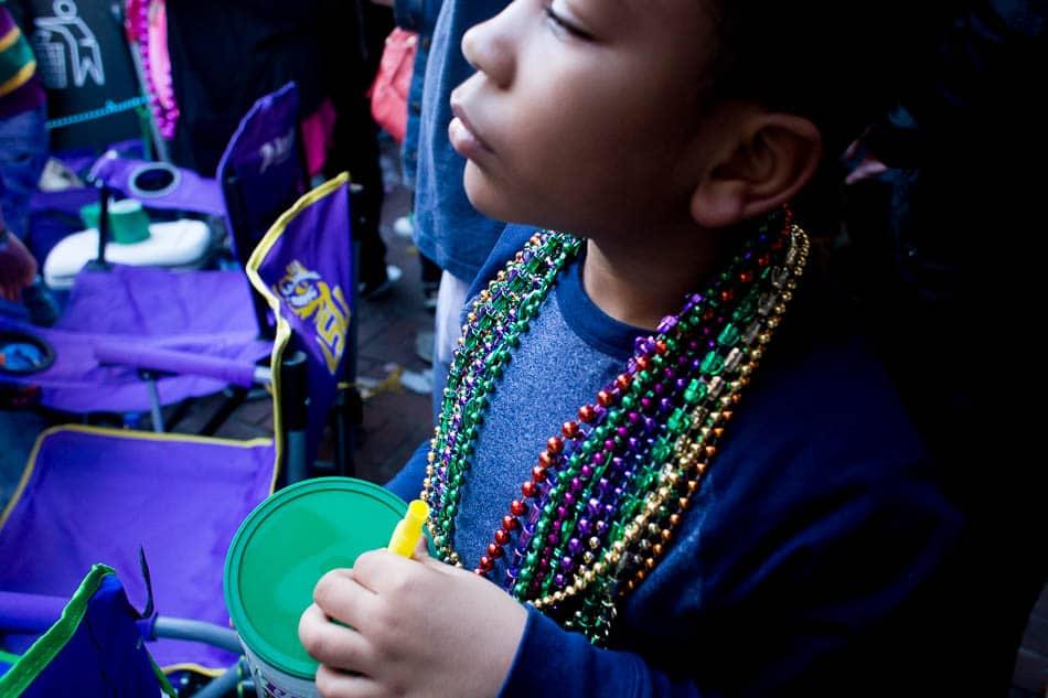 beads at mardi Gras