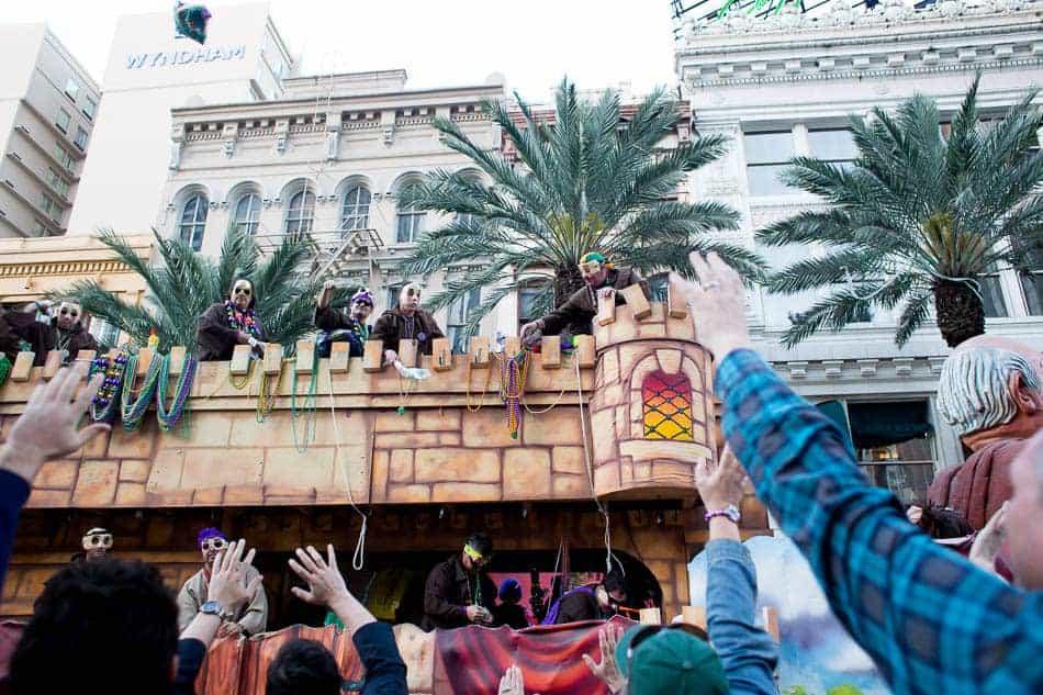 Krewe of Tuck Mardi Gras parade Saturday