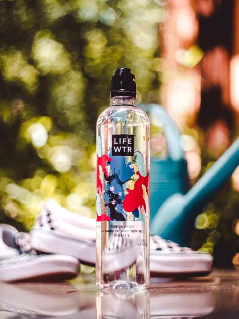 water bottle outside