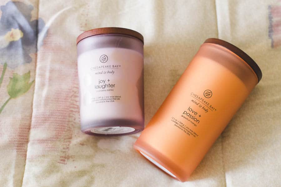chesapeake bay candles mind and body collection
