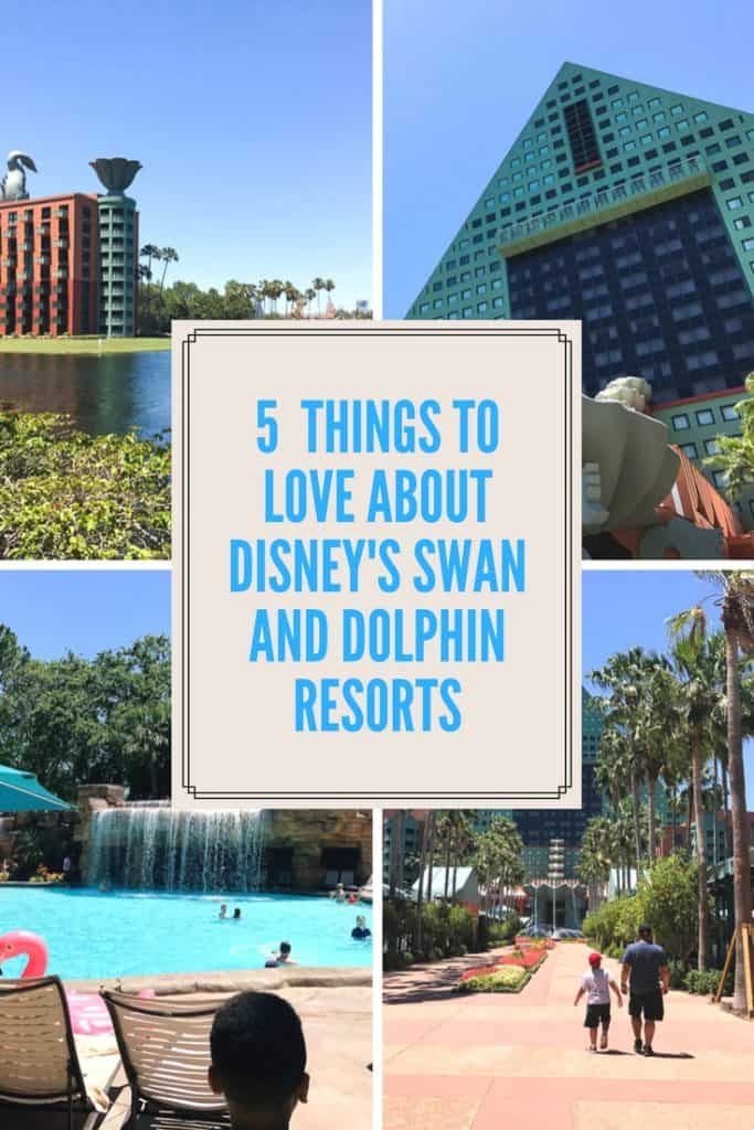 Have you ever thought about staying at Walt Dieny's Swan and Dolphin resort? Check out this hotel review and 5 things to love about the resort.