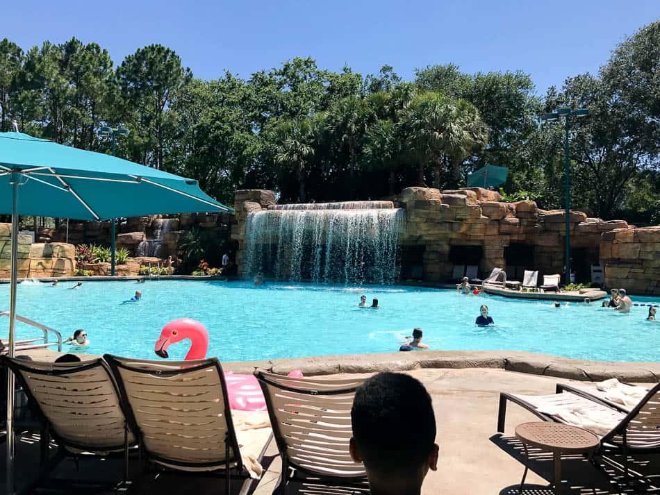 disney summer vacation at the pool.
