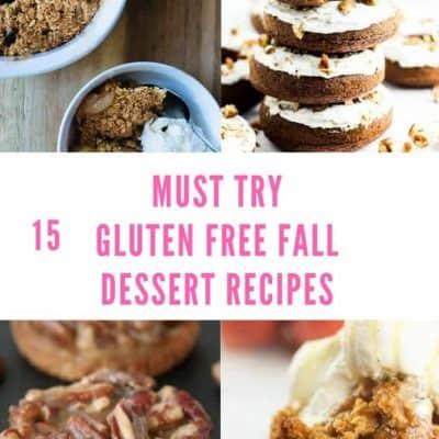 15 Delicious Gluten Free Fall Dessert Recipes