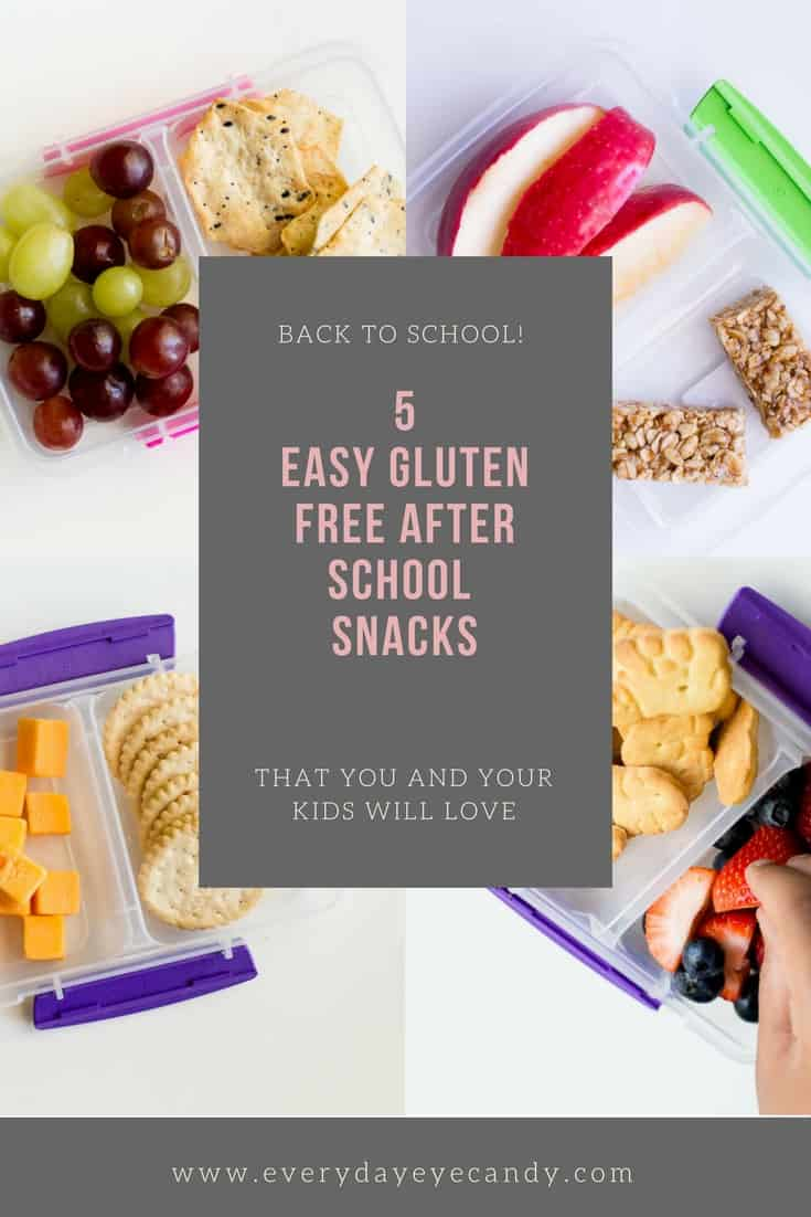 It's time for Back to School! Looking for easy healthy gluten-free after school snacks? Check out these 5 easy healthy ideas!