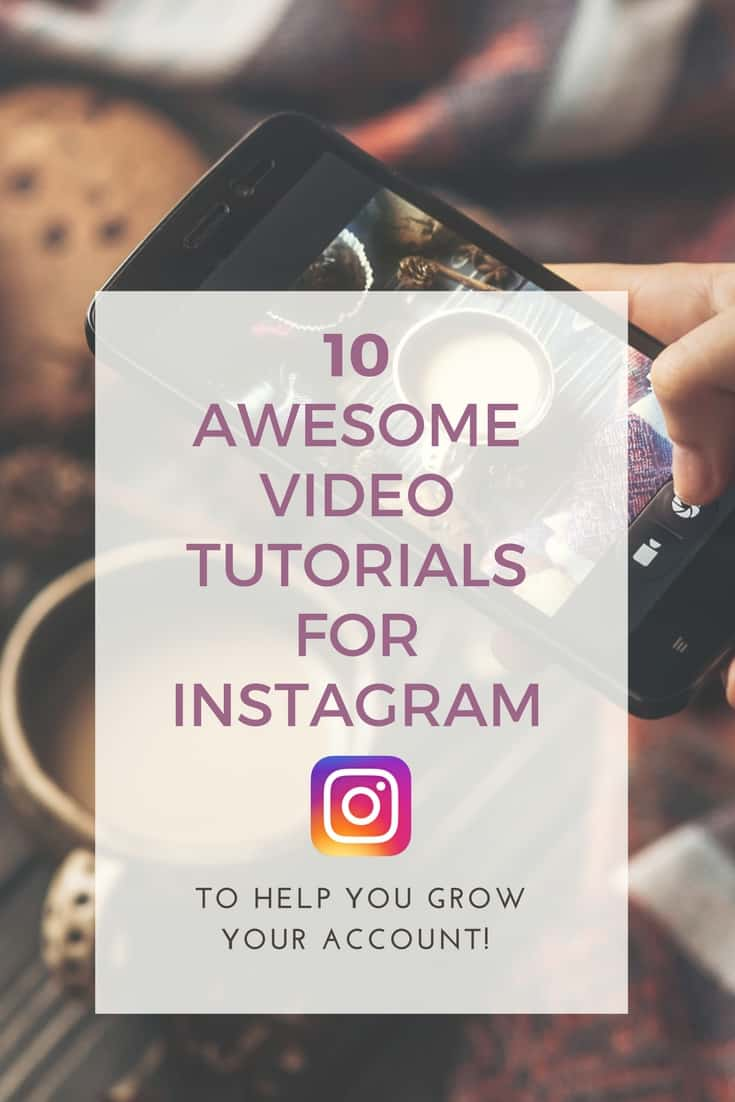 Are you a visual learner? Check out these 10 awesome youtube video tutorials on Instagram for Bloggers and Entrepreneurs to help you to grow a better Instagram account with advice, photo editing tutorials, and help with Instagram Stories