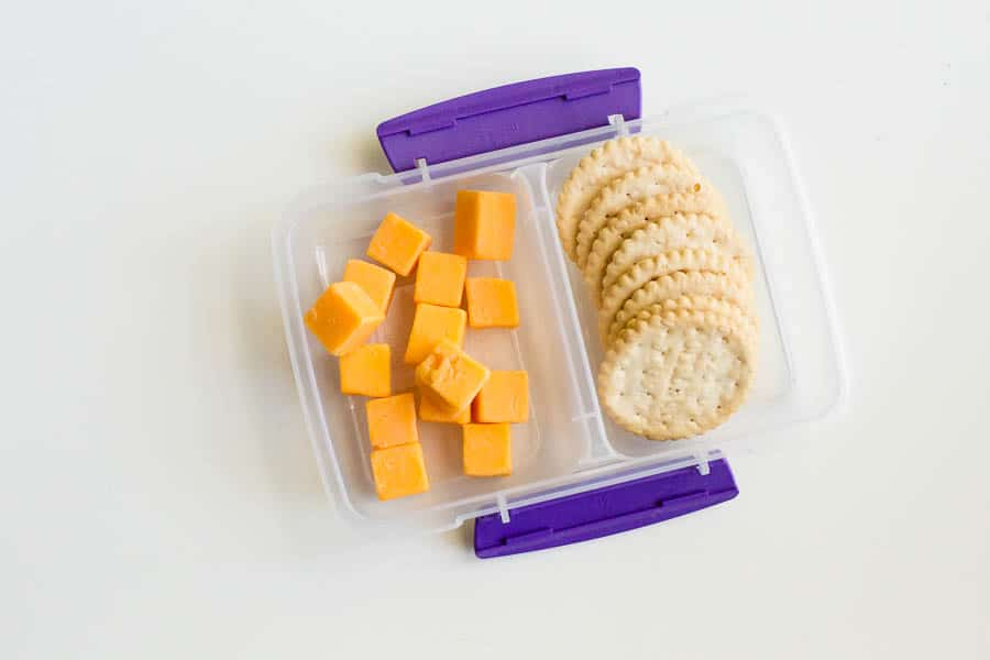 gluten free after school snack cheese and crackers