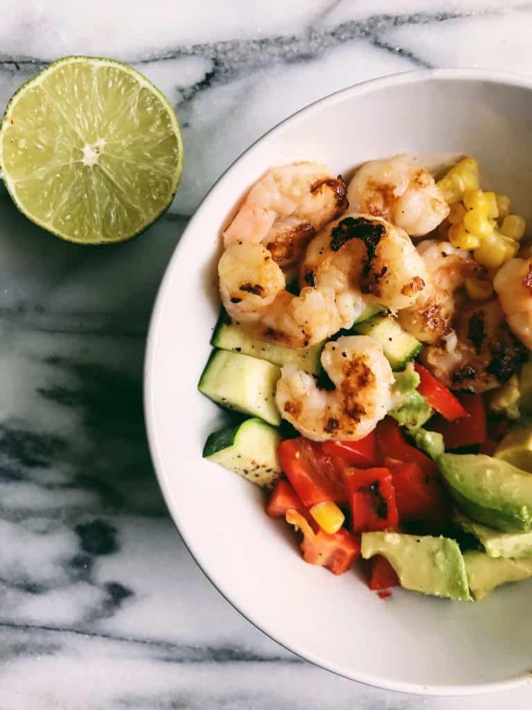 Skinny taste healthy grilled bowl