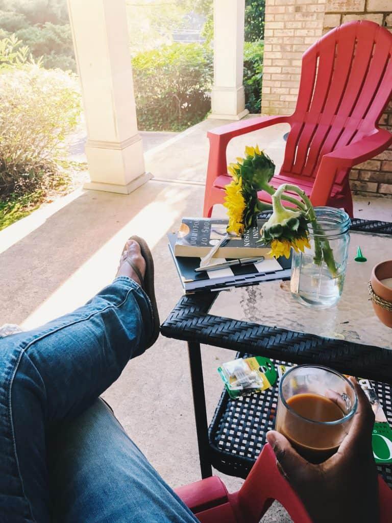 currently enjoying my porch