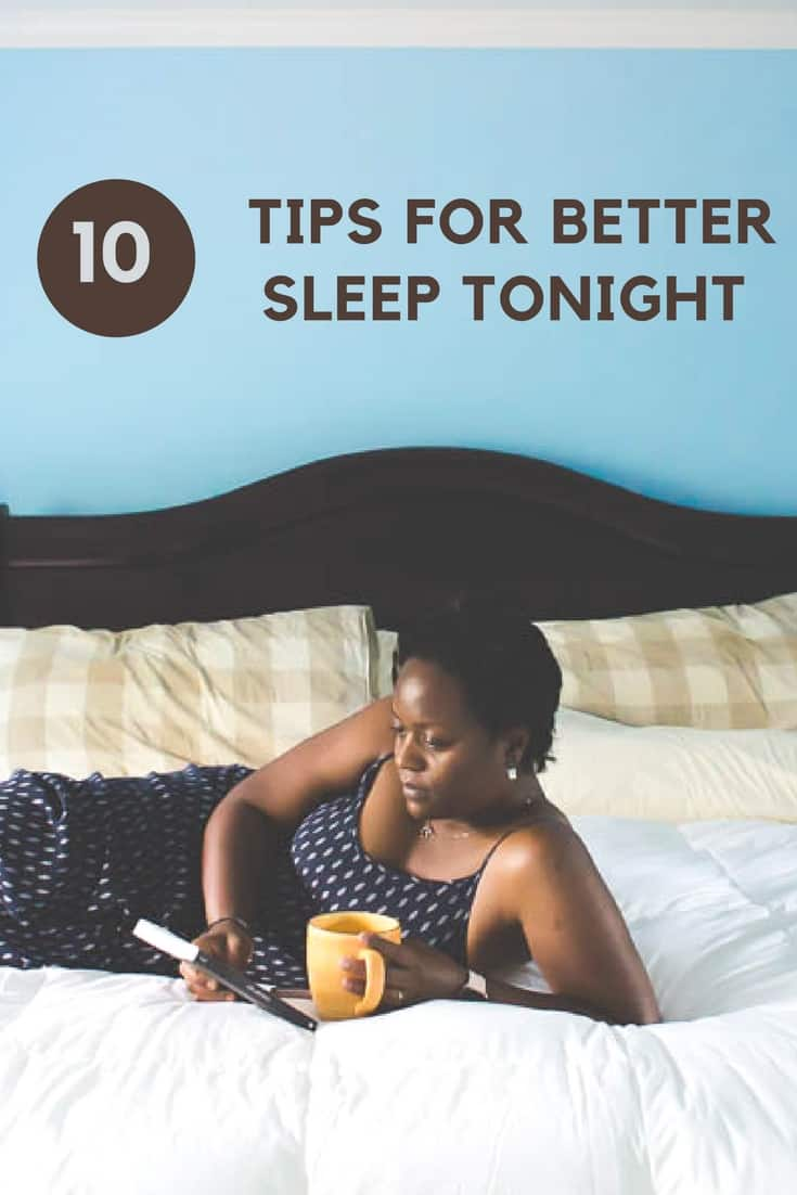 Looking for better sleep? Try these tips for better sleep tonight. #tomorrowsleep