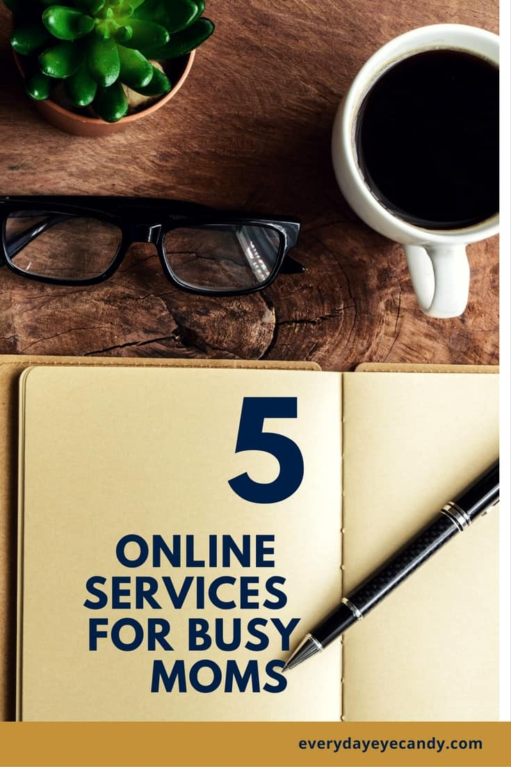 Busy moms need shortcuts and ways to save time!! Chec kout these 5 online services for busy moms