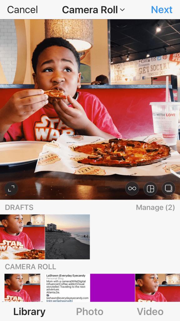 instagram hacks: save photos to drafts