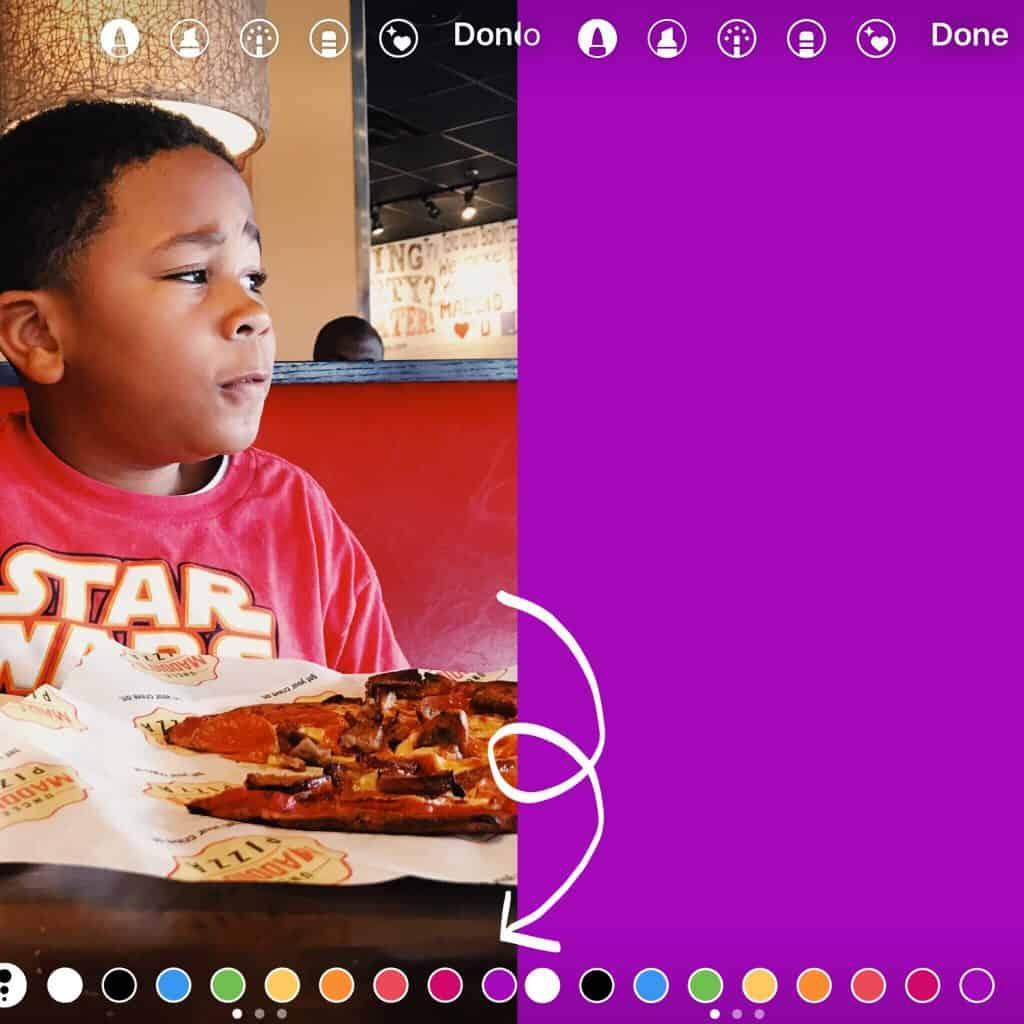 Instagram hacks: solid color background in instagram stories