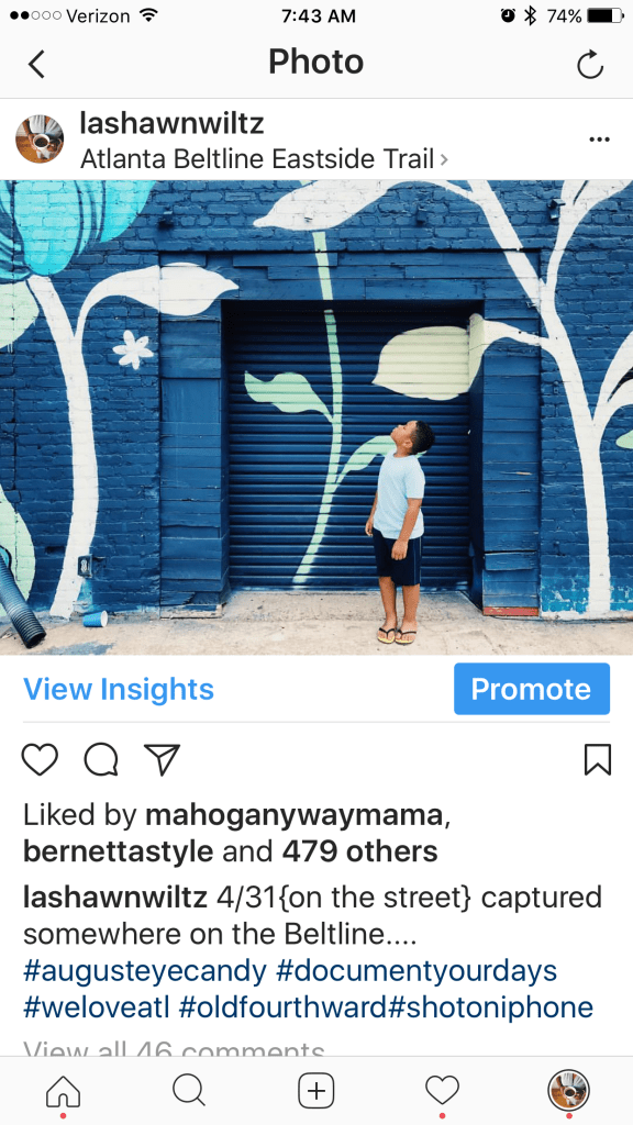 instagram hacks: post blue photos