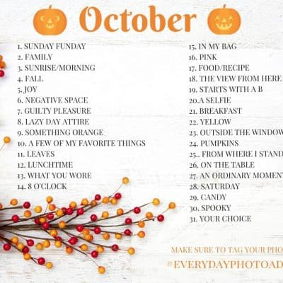 October Photo a Day Challenge 2017