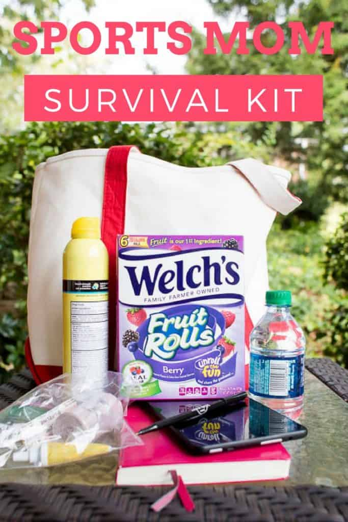 Are you a Sports Mom? Check out the Sports Mom Survival Kit for things you MUST have to survive. Including Welch's Fruit rolls. Perfect on the go! #sponsored