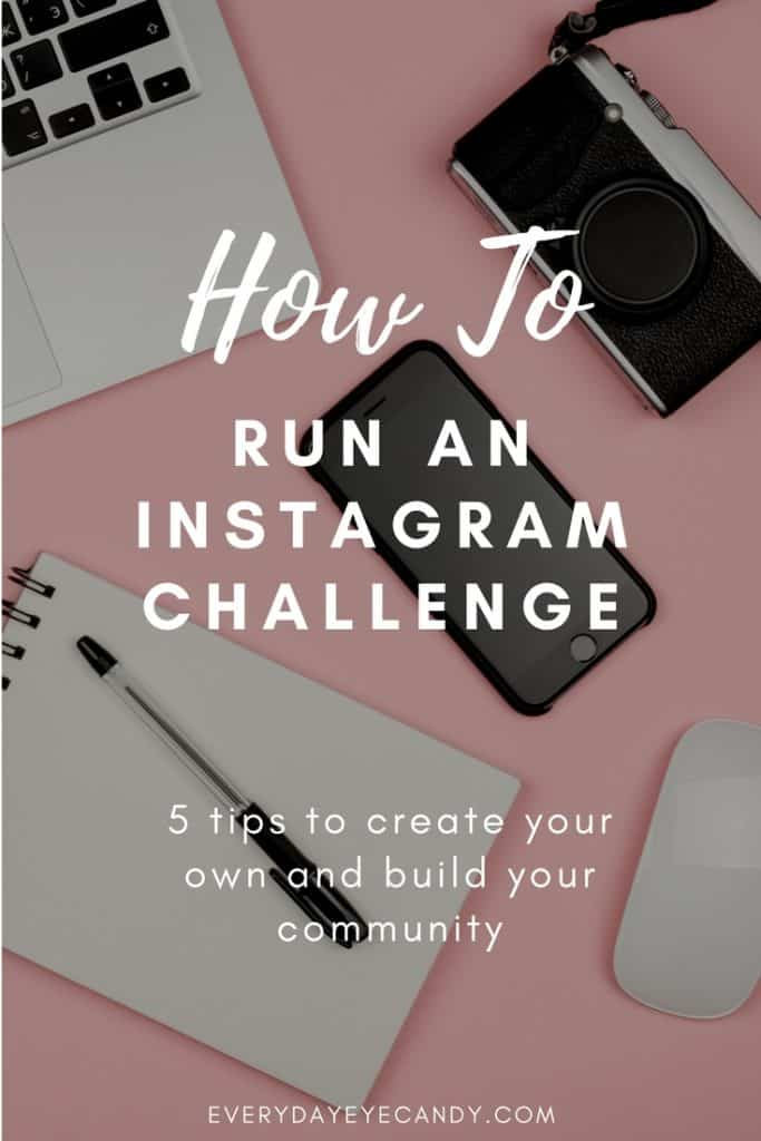 Interested in running an Instagram Challenge? Check out these tips to run a successful Instagrram challenge toincrease your engagement and increase your instagram followers #instagramtips #instagram #socialmedia.