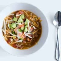 Crockpot  Naked Chicken Tortilla Soup