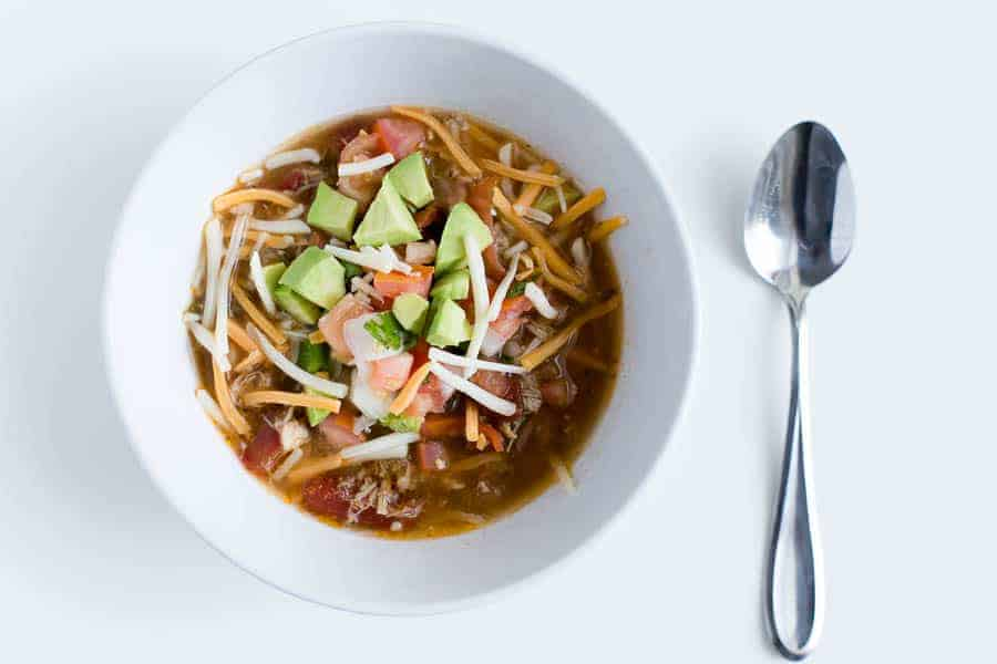 Low Carb Crockpot Chicken Tortilla Soup