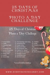 it's the 3rd annual 25 days of christmas photo a day challenge! join us on Instagram with the hashtag #eyecandyholidaychallenge #photoaday #instagram #christmas #photography