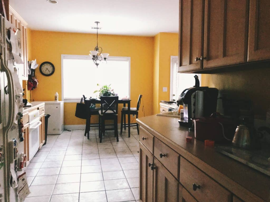 kitchen in the morning