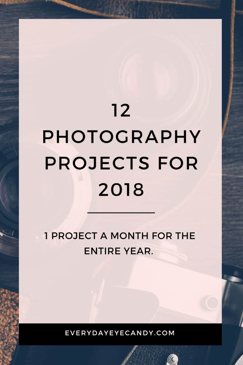 It's the new year and time for new photography projects! Check out these 12 awesome photography project ideas for the new year. #photographyprojects #photography #photographytips