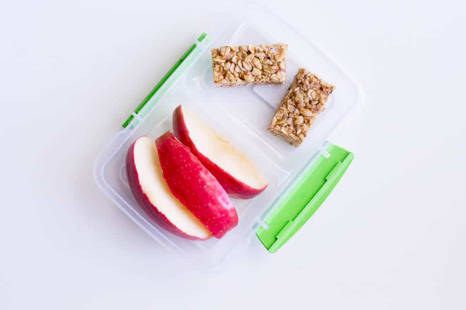 after school snack ideas kid approved apples and granola bars