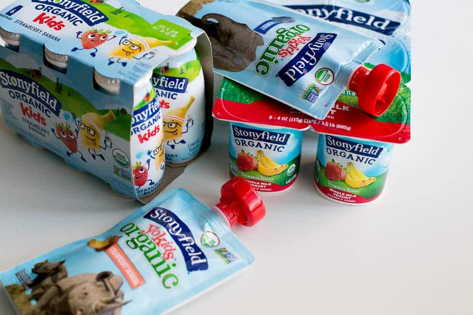 stonyfield organic yogurt after school snack