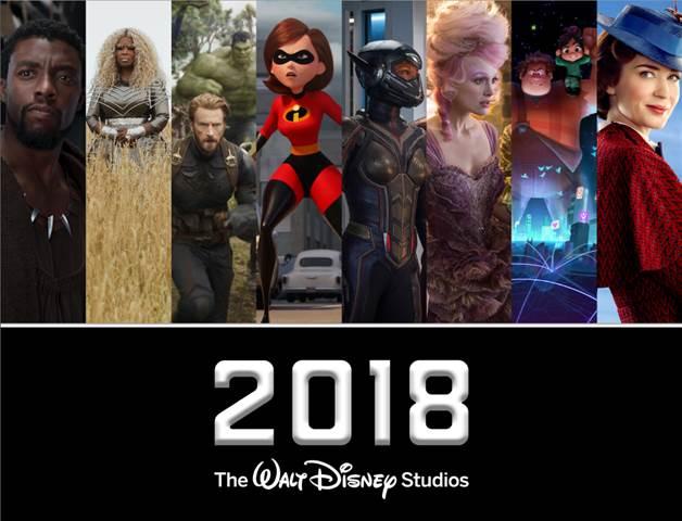The 2018 Disney Movie Lineup