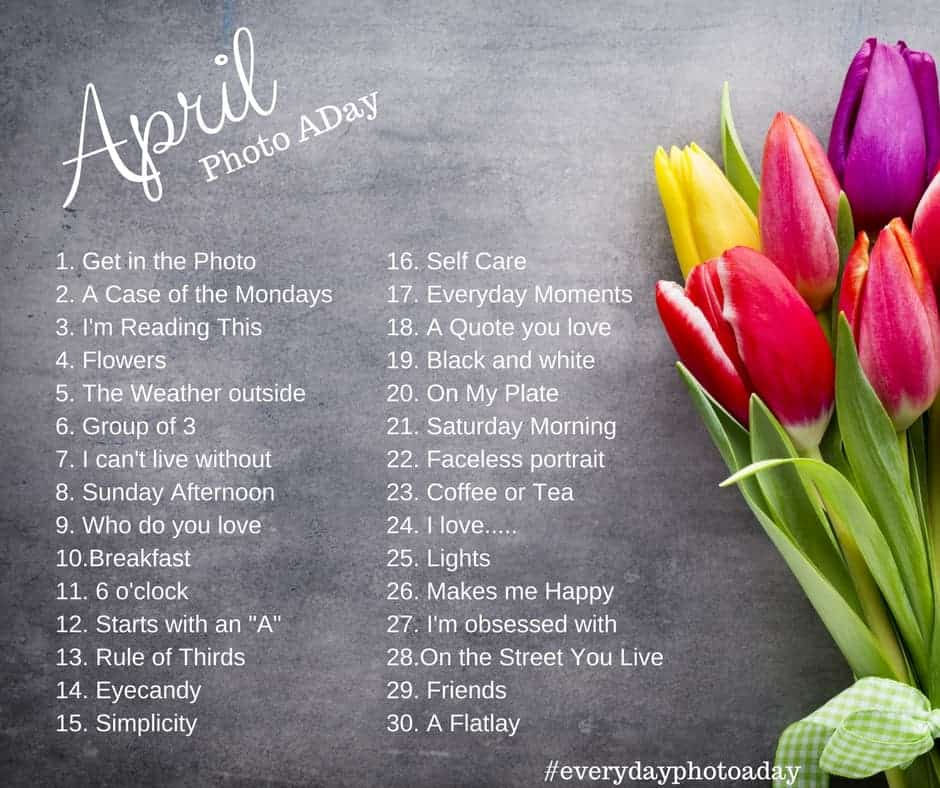 April Photo a Day Challenge!