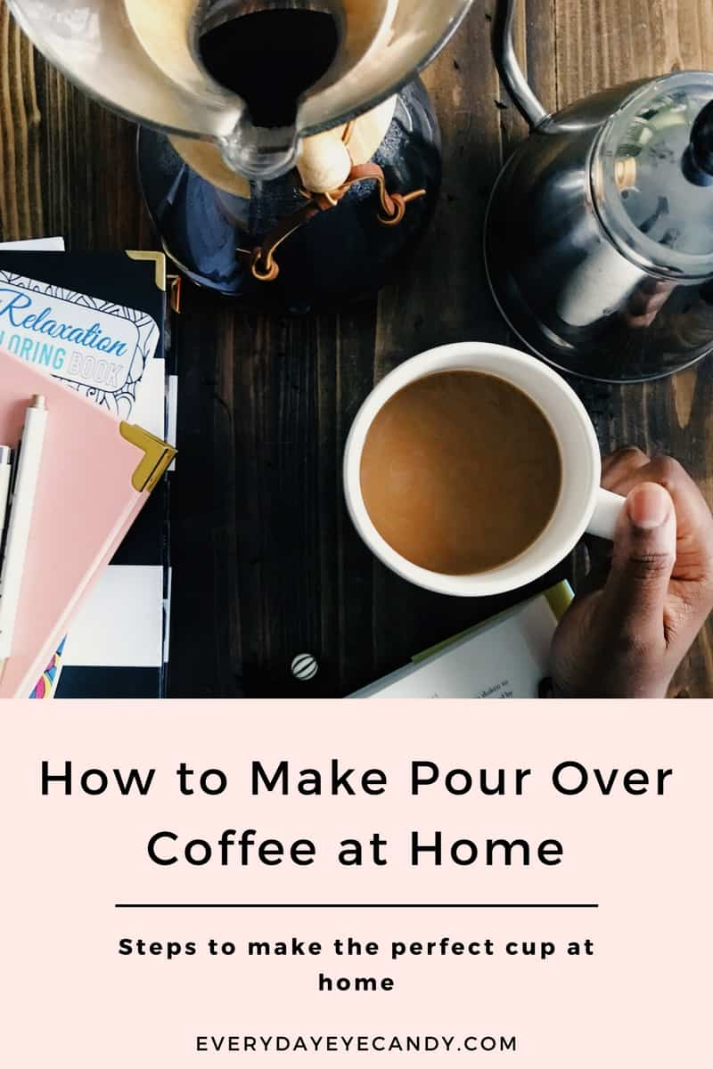 You don't have to go out to get great coffee! Learn how to make and enjoy pour over coffee in your home. #COFFEE #COFFEELOVER #POUROVERCOFFEE