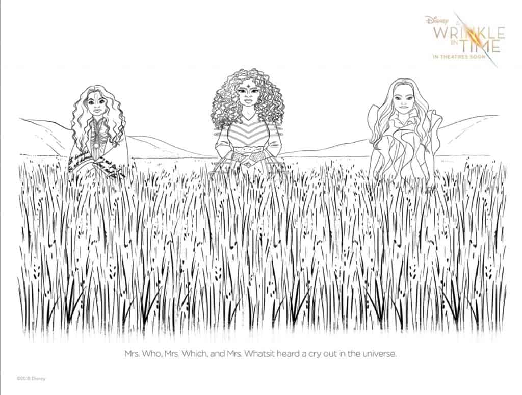a wrinkle in time printables