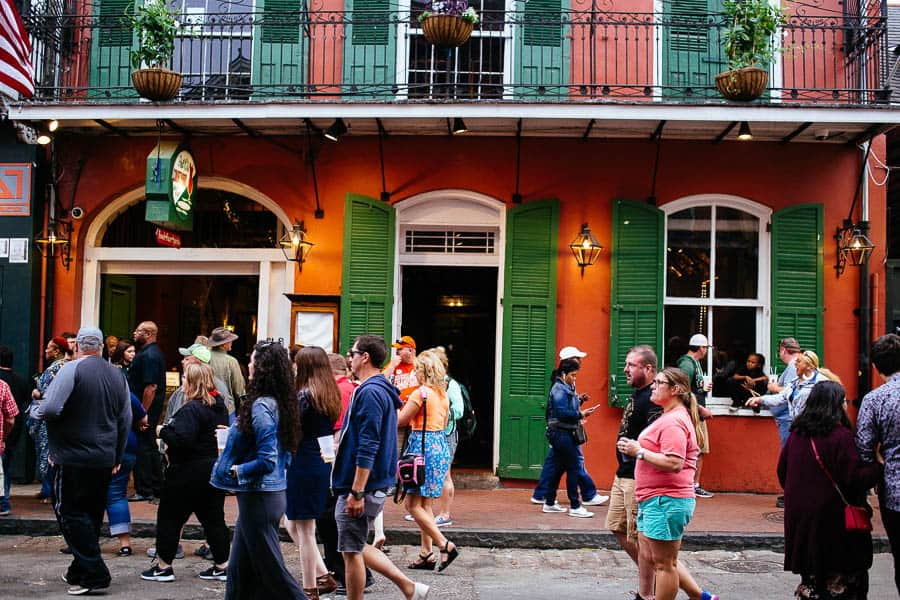 people watching in the french quarter